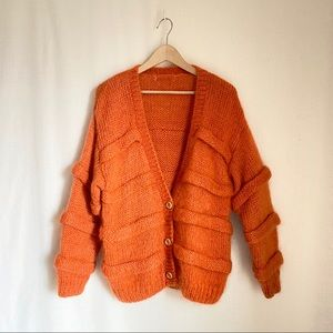 Vintage chunky Orange Cardigan